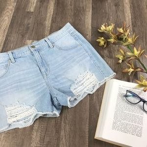Mossimo High Rise Distressed Boyfriend Shorts
